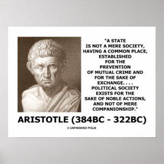 Aristoteles-Staats-nicht bloße Poster