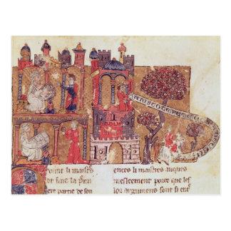 Aristoteles weist Alexander der Große herein an Postkarte