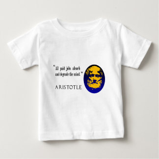 Aristoteles, zahlende Jobs vermindern den Verstand Baby T-shirt