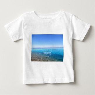 Aristoteles-Zitat über Bildung, Lehrer, Ethik Baby T-shirt