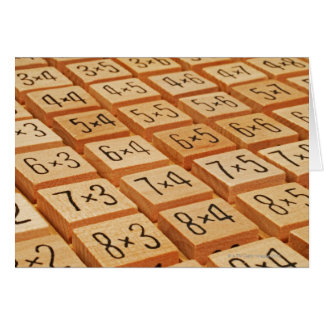 Arithmetisch. Vermehrung setzt Zeit hölzernen Karte