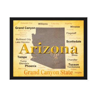 Arizona alterte Karte Leinwanddruck