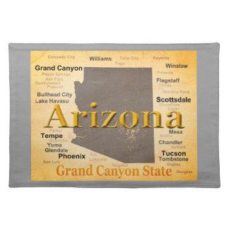 Arizona alterte Karte Stofftischset