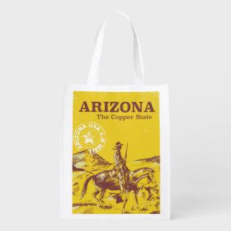 Arizona das Vintage Reiseplakat des kupfernen Wiederverwendbare Einkaufstasche