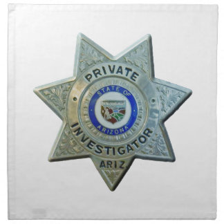 Arizona-Detektiv Stoffserviette