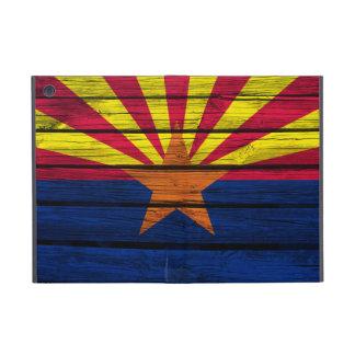 Arizona-Flagge gemalt auf rustikalem Holz iPad Mini Schutzhüllen
