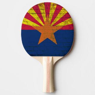 Arizona-Flaggen-Schmutz-Backsteinmauer-Klingeln Tischtennis Schläger