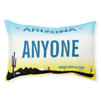 Arizona-Gewohnheits-Kfz-Kennzeichen Haustierbett