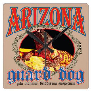 Arizona-Gila-Krustenechse-Quadrat-Wanduhr Wanduhren