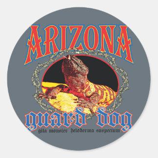 Arizona-Gila-Krustenechse Runder Aufkleber