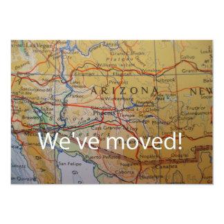 Arizona haben wir neue Adressen-Mitteilung bewegt 12,7 X 17,8 Cm Einladungskarte