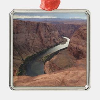 ARIZONA - Hufeisenbiegung A - roter Felsen Silbernes Ornament