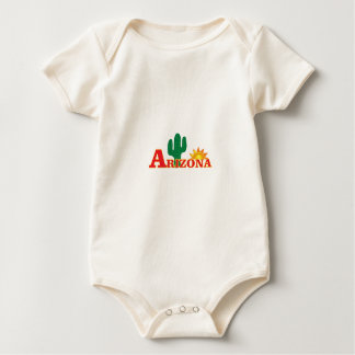 Arizona-Logo einfach Baby Strampler