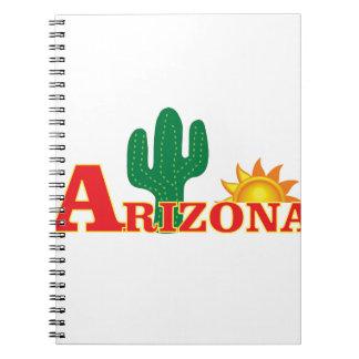 Arizona-Logo einfach Notizblock
