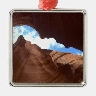 ARIZONA - obere Antilopen-Schlucht B - roter Quadratisches Silberfarbenes Ornament