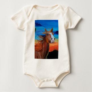 Arizona-Pferd Baby Strampler