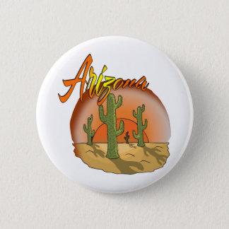 ARIZONA-Sonnenuntergang-Kaktus Runder Button 5,1 Cm