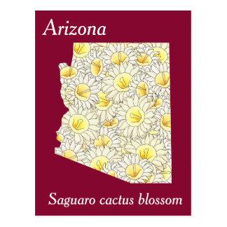 Arizona-Staats-Blumen-Collagen-Karte Postkarte