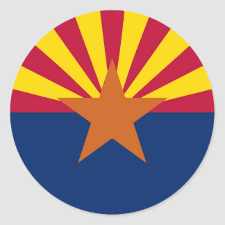 Arizona-Staats-Flagge Runder Aufkleber