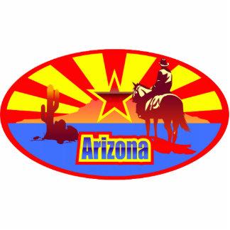 Arizona-Staats-Flaggen-Vintages Zeichnen Fotoskulptur Magnet