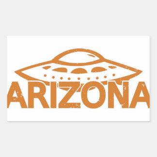 Arizona UFO Rechteckiger Aufkleber