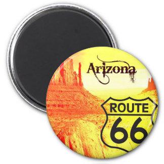 Arizona-Weg 66 Runder Magnet 5,1 Cm