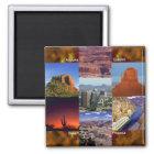 Arizona-Wüsten-Collage Quadratischer Magnet