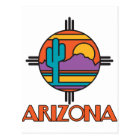 Arizona-Wüsten-Mandala Postkarte