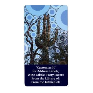 Arizonasaguaro-Kaktus-konzentrischer Kreis-Mosaik Versand Aufkleber