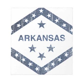 Arkansas-Flagge Notizblock