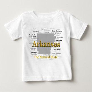 Arkansas-Karten-Silhouette Baby T-shirt