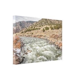 Arkansas River in Colorado; Winter; Flüsse Leinwanddruck
