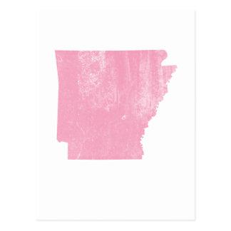 Arkansas rosa Vintager Grunge Postkarte