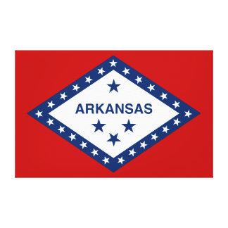 Arkansas-Staats-Flagge Leinwanddruck