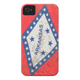 Arkansas-Staats-FlaggeGrunge iPhone 4 Case-Mate Hülle