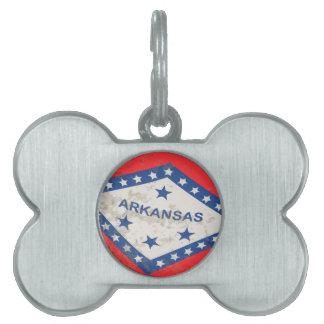 Arkansas-Staats-FlaggeGrunge Tiermarke