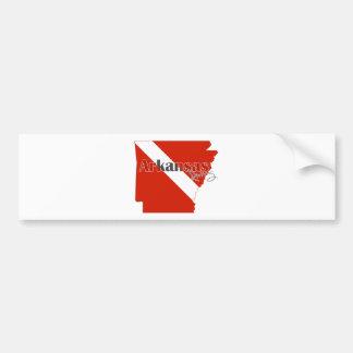 Arkansas-Staats-Tauchen-Flagge Autoaufkleber