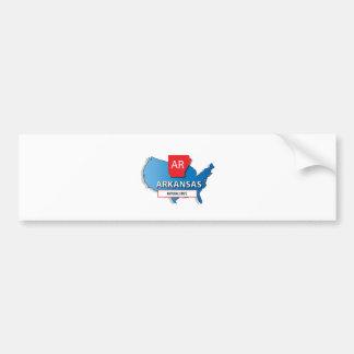Arkansas-Staatskarte Autoaufkleber