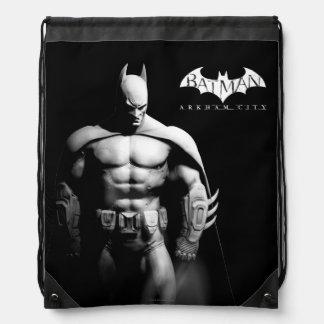 Arkham Stadt  Batman-breite Schwarzweiss-Pose Sportbeutel