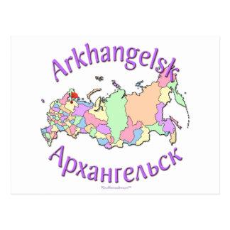 Arkhangelsk Russland Karte Postkarten