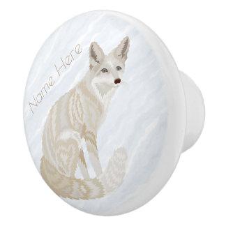 Arktische Fox Retro Keramikknauf