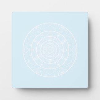 Arktische Mandala Fotoplatte