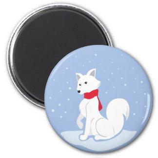 Arktischer Fox Runder Magnet 5,1 Cm