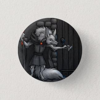 Arktischer Fox-Tür-Schutz Runder Button 2,5 Cm