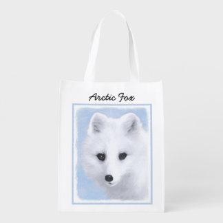 Arktischer Fox Wiederverwendbare Einkaufstasche