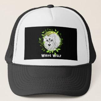 Arktischer weiße Wolf-wildes Tier-Entwurf Truckerkappe