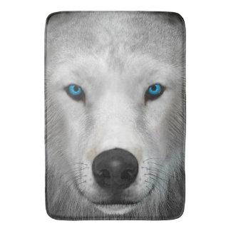 Arktischer Wolf Badematte