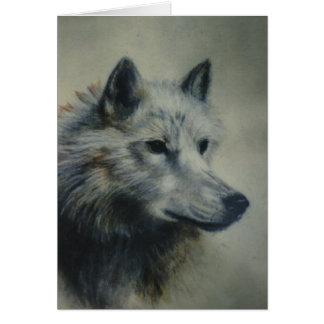 """""""Arktischer Wolf """" Karte"""