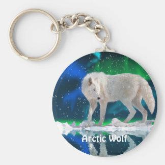 ARKTISCHER WOLF u. Aurora Keychain Schlüsselanhänger