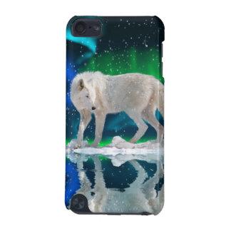 Arktischer Wolf-u. Aurora-Tier-IPod-Touch-Fall iPod Touch 5G Hülle